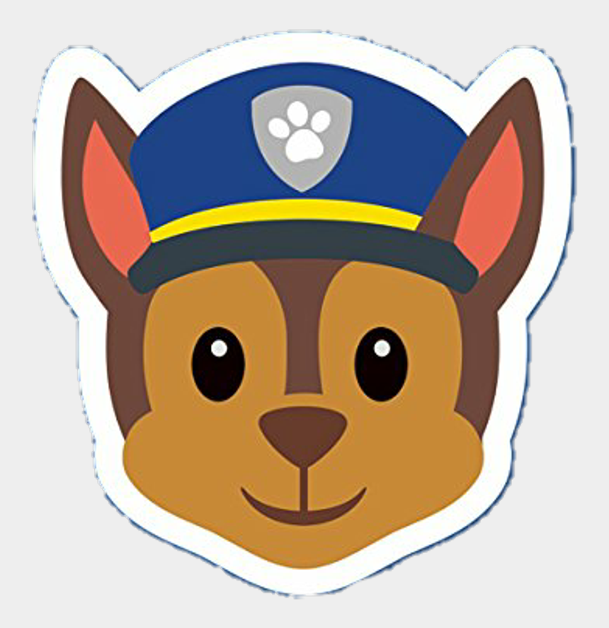 paw patrol clip art, Cartoons - Chase Sticker Png - Chase Paw Patrol Face