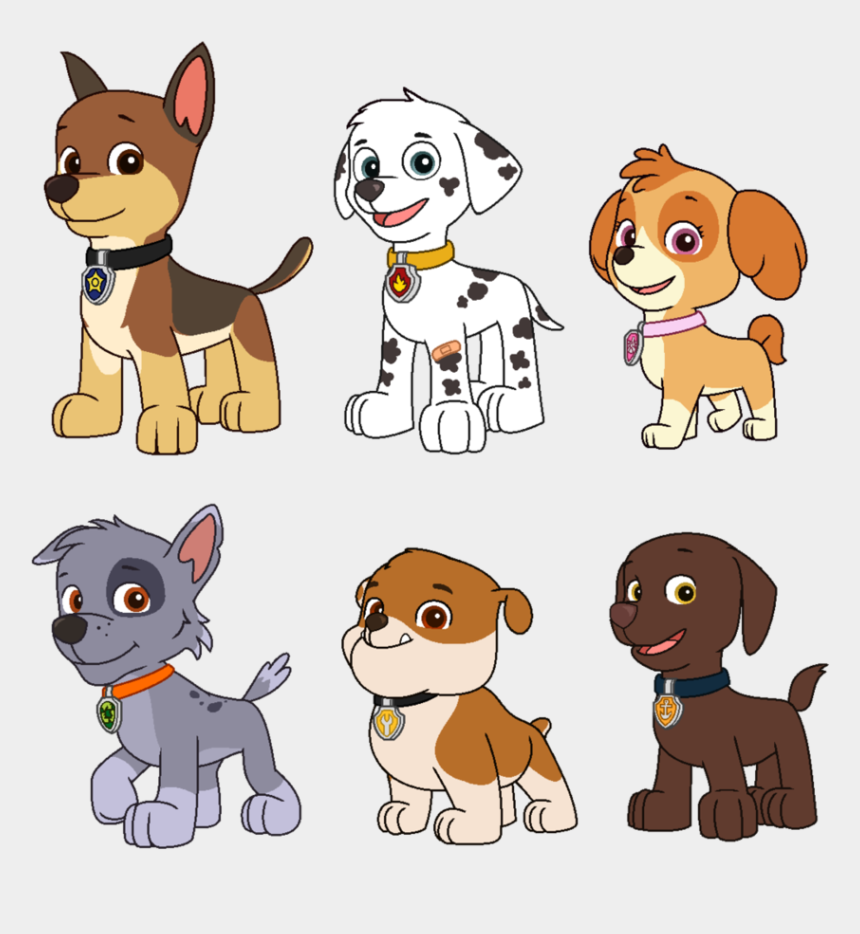paw patrol clip art, Cartoons - Paw Patrol Redesigned Au Vectors By Nobodyherewhatsoever - Paw Patrol Without Outfits