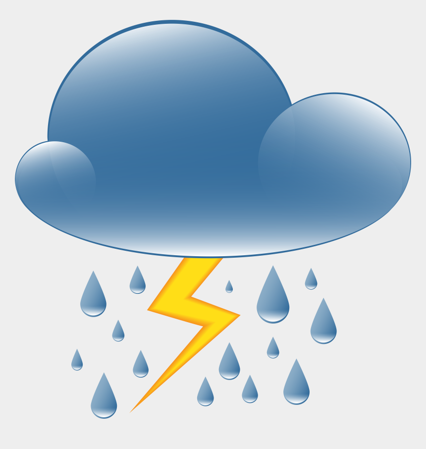 weather clip art, Cartoons - Latest Download Thundery Showers Weather Icon Png Clip