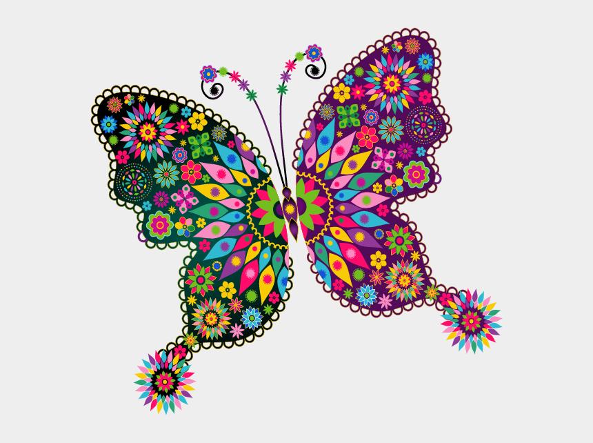 butterflies clipart, Cartoons - Content Png Clip Art - Redmi Note 6 Pro Back Cover Beautiful