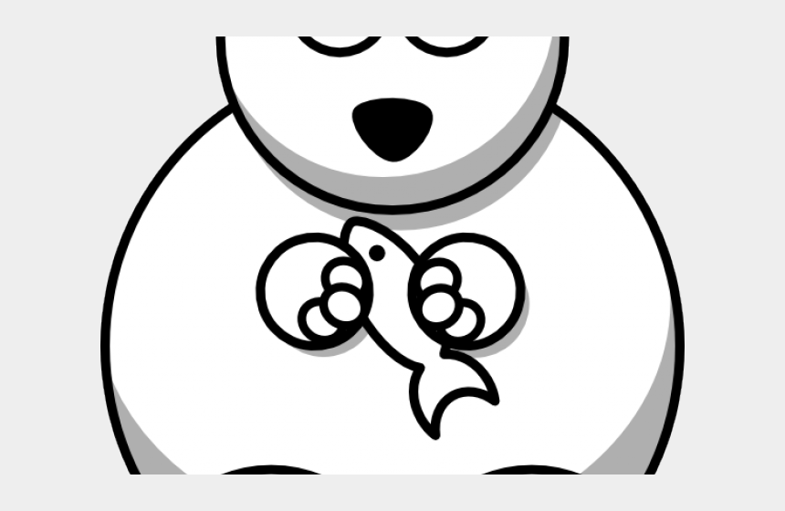 animal clipart black and white, Cartoons - Stuffed Animal Clipart Black And White - Cute Polar Bear Drawing Easy