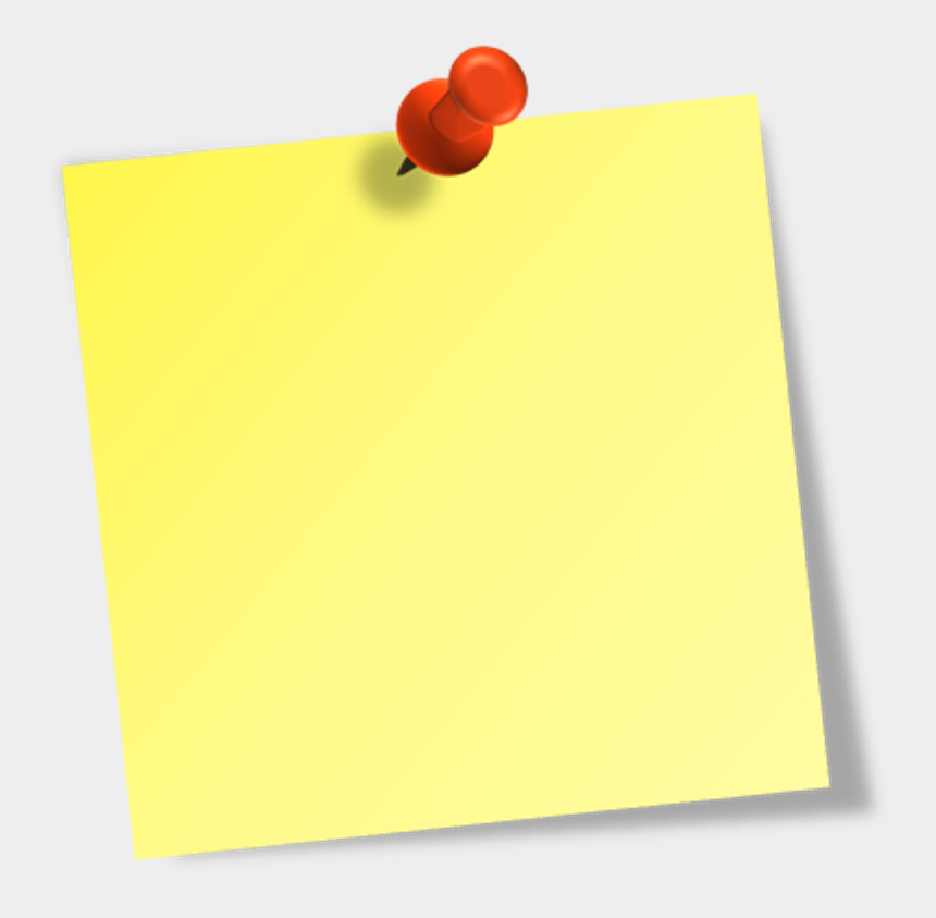 Sticky Notes Transparent Background, Cliparts & Cartoons - Jing.fm