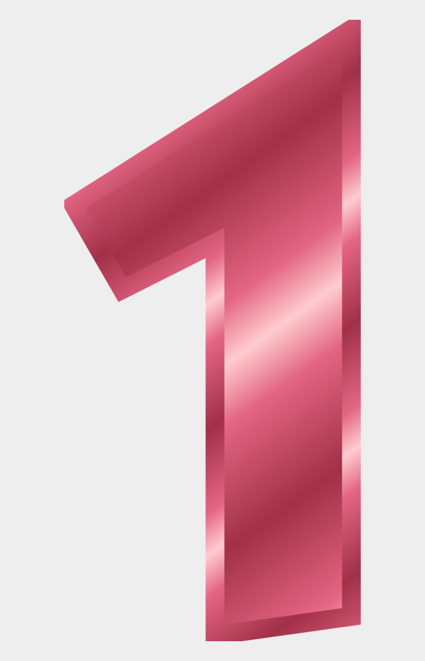number 1 clipart, Cartoons - Pink Number 1 Clipart - Number 1 Pink Color