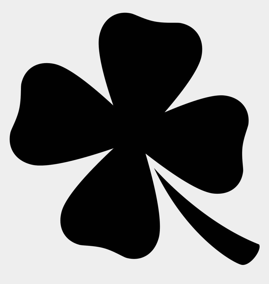 four leaf clover clip art, Cartoons - White Four Leaf Clover Png - Clover Icon