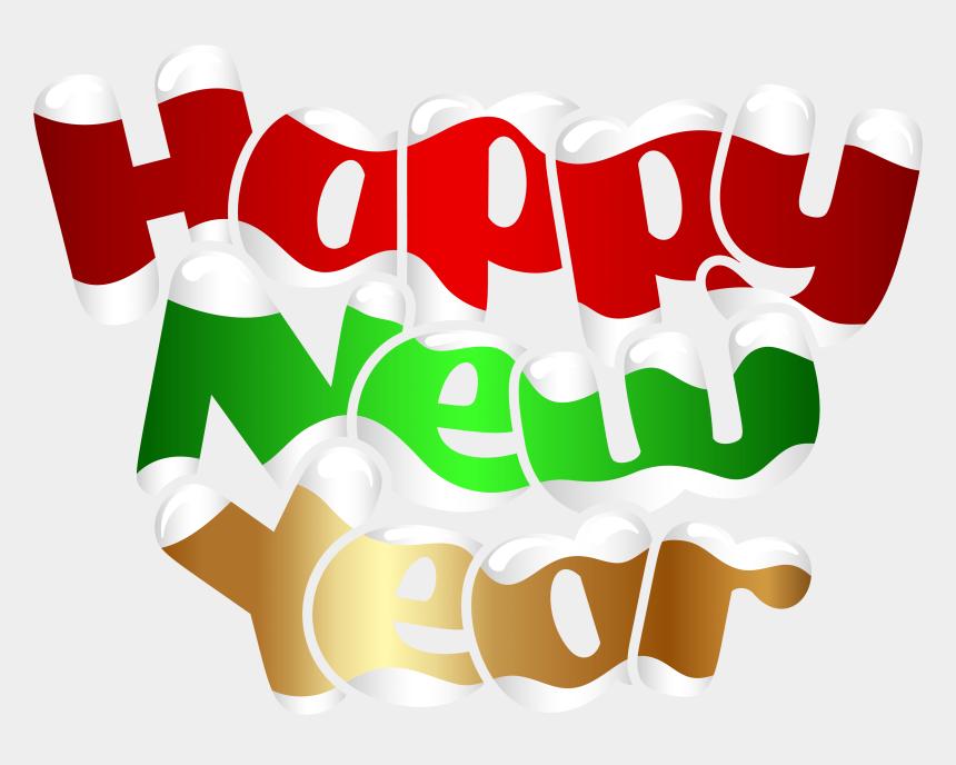 happy new year 2017 clipart, Cartoons - Happy New Year 2018 Logo Merry Christmas 2018 Logo - Надпись Happy New Year На Прозрачном Фоне