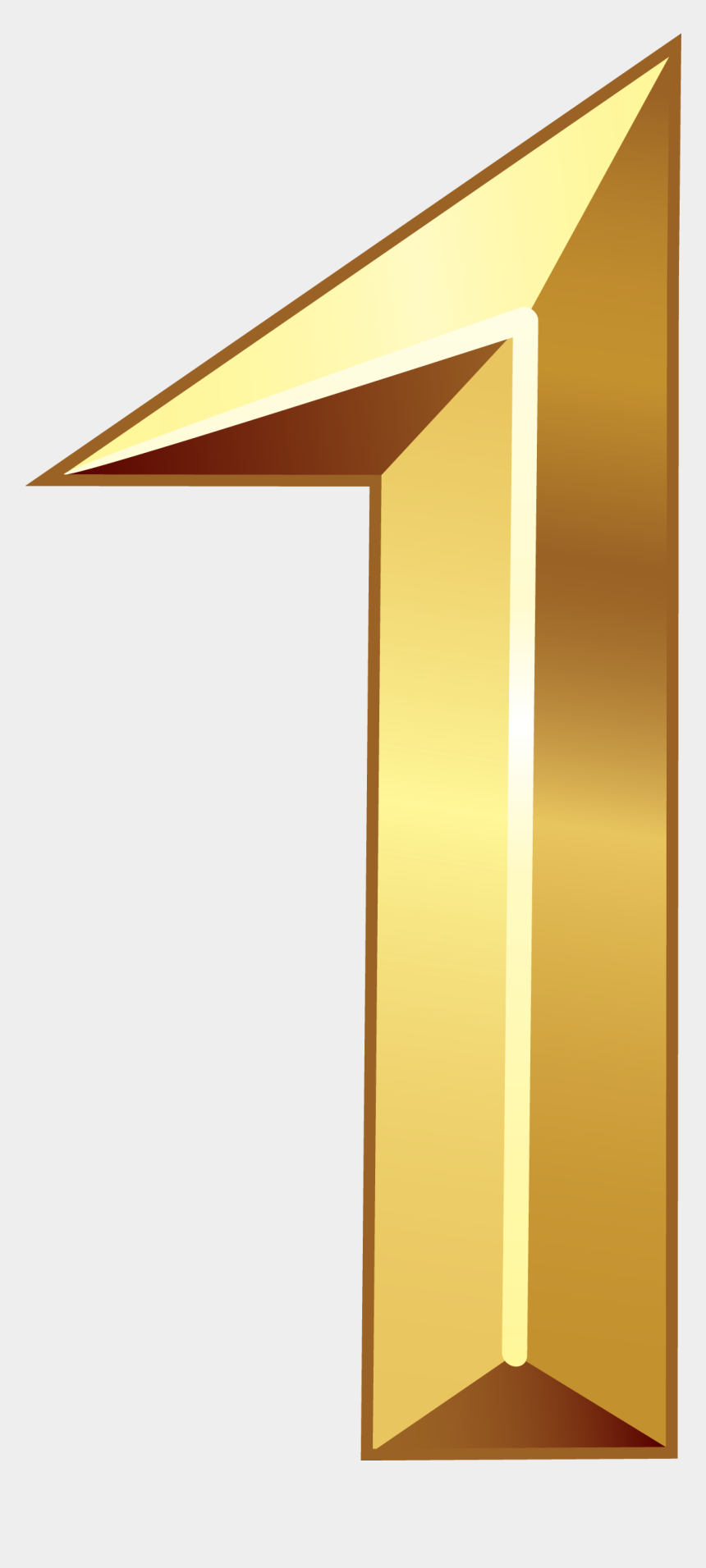 number 1 clipart, Cartoons - Gold Number One Png Clipart Image - Gold Number 1 Png