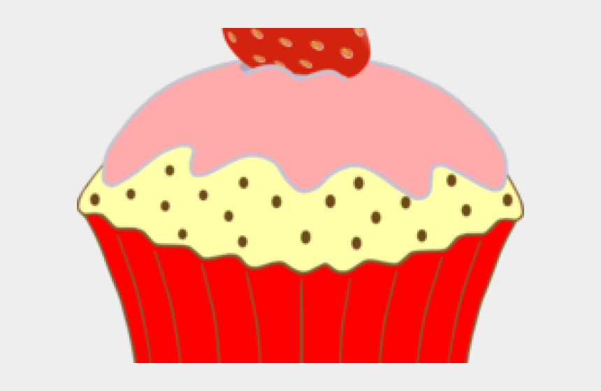 muffin clipart, Cartoons - Muffin Clipart Row Cupcake - Strawberry Cupcake Clipart
