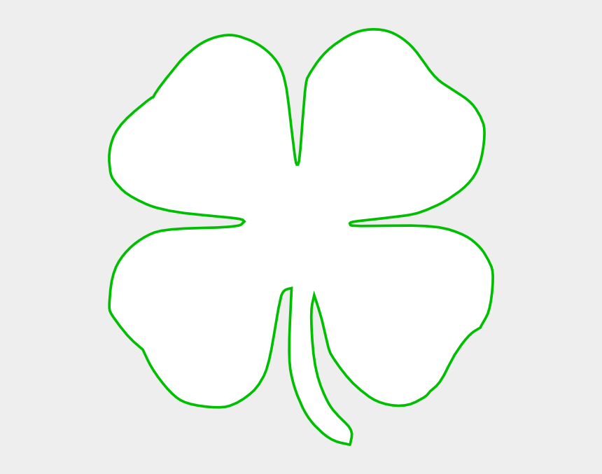 four leaf clover clip art, Cartoons - White Green Shamrock Clip Art - White Shamrock Green Background