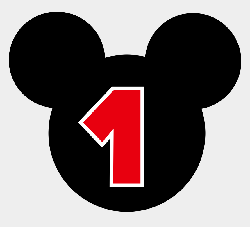 number 1 clipart, Cartoons - Mickey Mouse Number 1 Png - Mickey Mouse Number 7