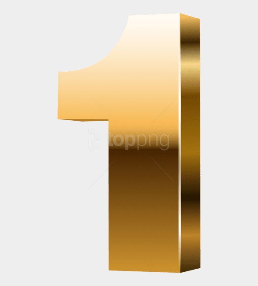 number 1 clipart, Cartoons - Free Png Download Number One 3d Gold Clipart Png Photo - Gold Number 1 Png