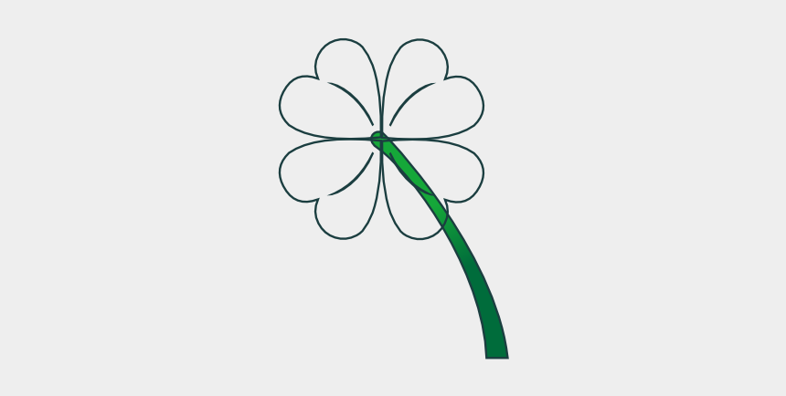 four leaf clover clip art, Cartoons - 4 Leaf Clover Gradient