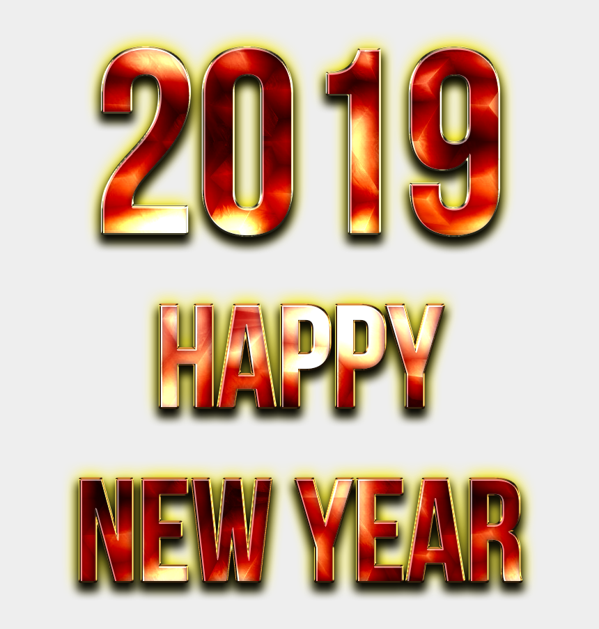 happy new year clipart free, Cartoons - 2019 Happy New Year Png Free Image - Graphic Design