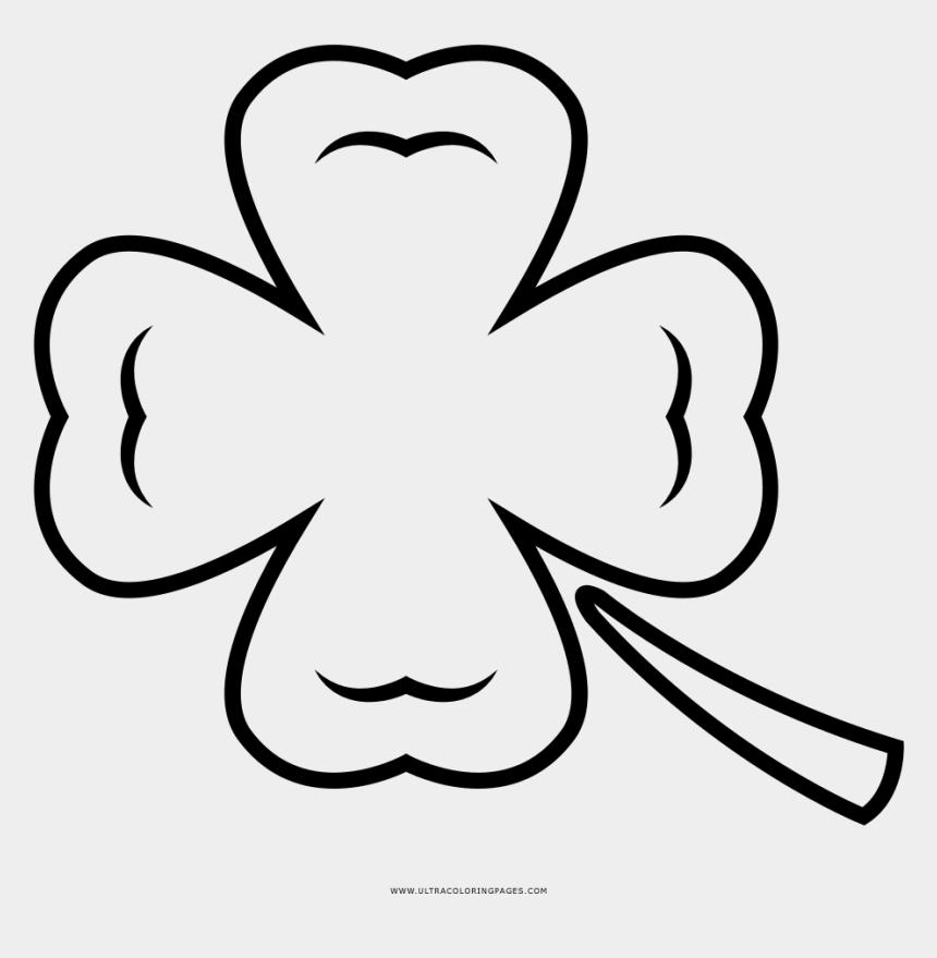 Four Leaf Clover Coloring Page Line Art Cliparts