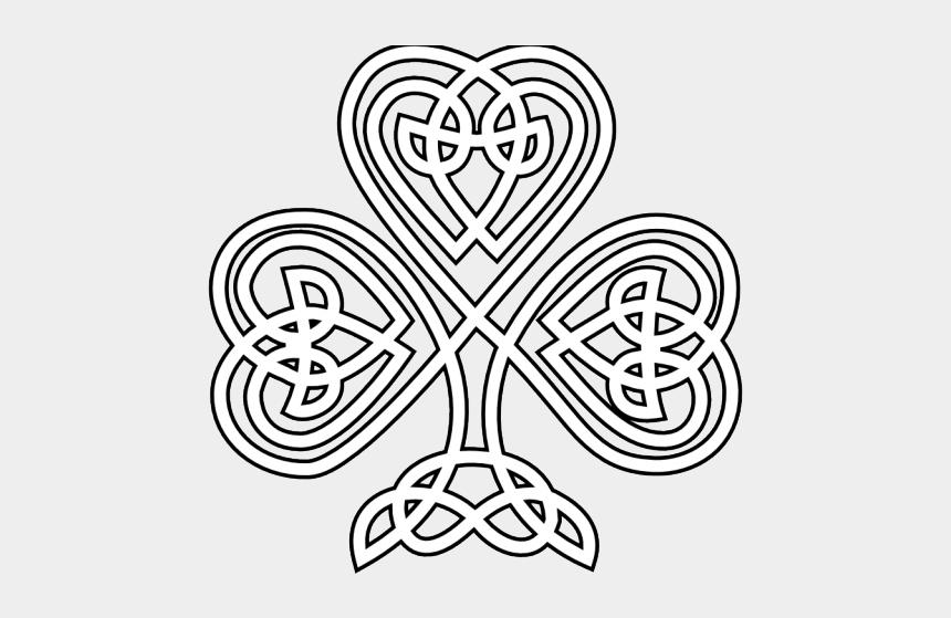 four leaf clover clip art, Cartoons - Celtic Knot Shamrock Clip Art
