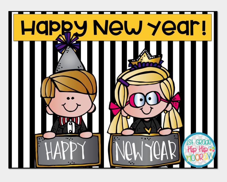 happy new year 2017 clipart, Cartoons - Happy New Year - Cartoon