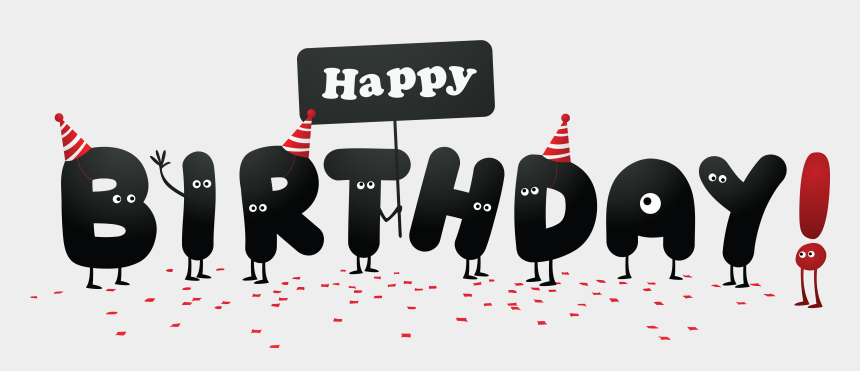 happy friday clipart, Cartoons - Funny Happy Birthday Without Shadows Clipart Picture - Happy Birthday Gif 60