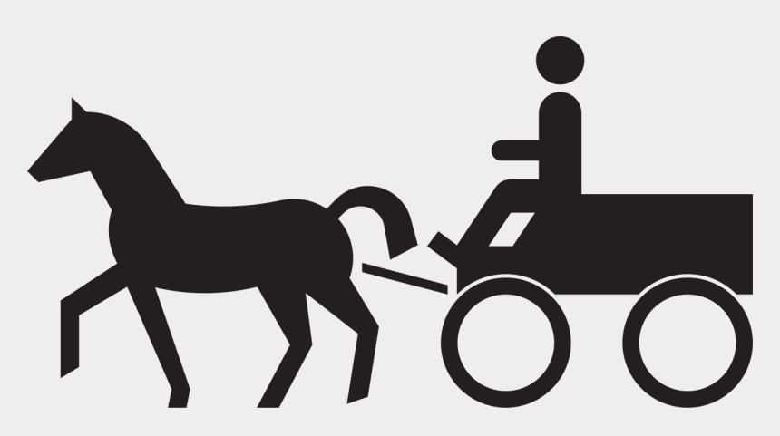 horse clipart black and white, Cartoons - Sinnbild Gespannfuhrwerk, Stvo - Riding A Horse Clipart