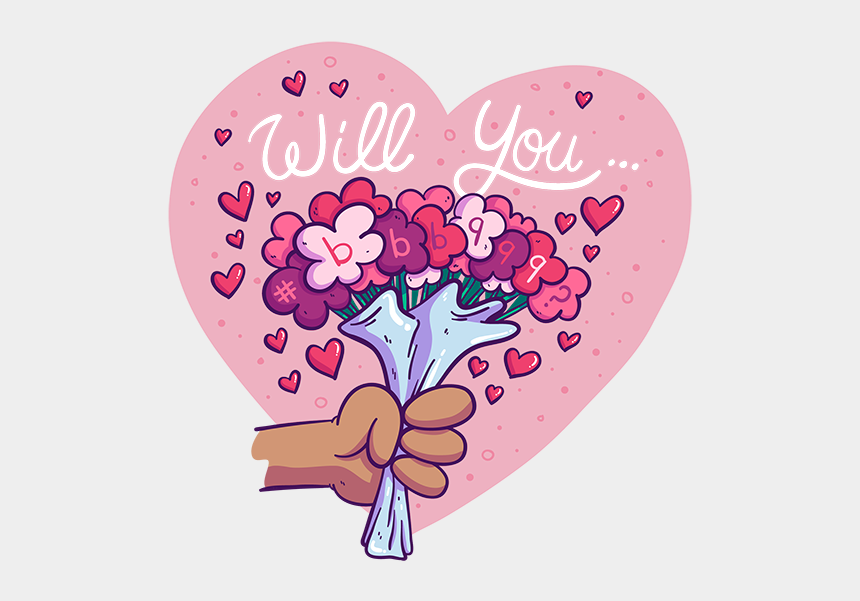 valentines day cards clipart, Cartoons - Will You Bbb999 - Heart