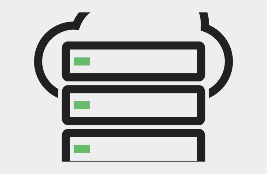 porte clipart, Cartoons - Cloud Server Clipart Black And White - Cloud Server Icon Png