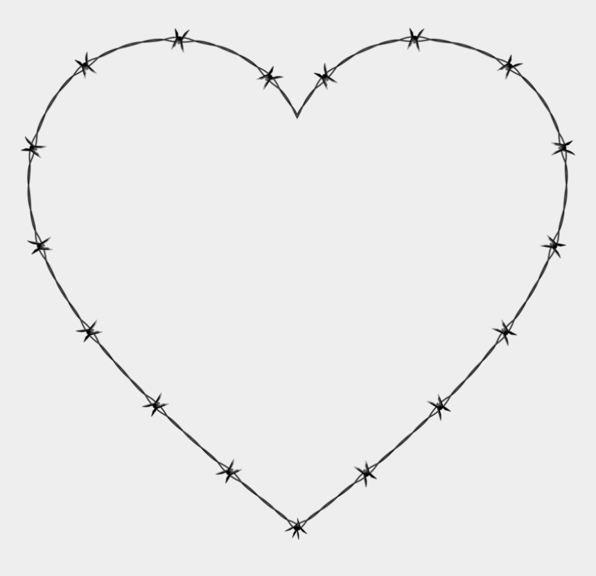 barb wire fence clipart, Cartoons - Barbed Wire Heart Fence - Barbed Wire Heart Png