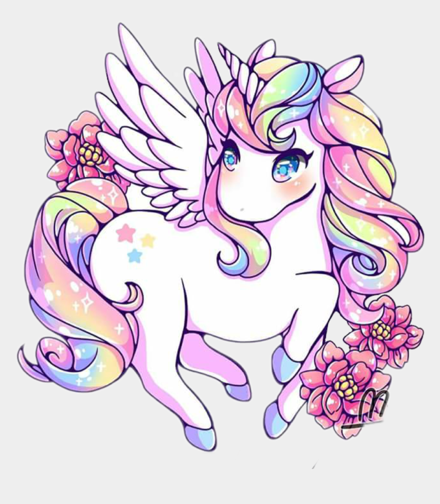 horse and pony clipart, Cartoons - #magic #pony #horse #flower #rainbow #pastel #chibi - Rainbow Kawaii Unicorns