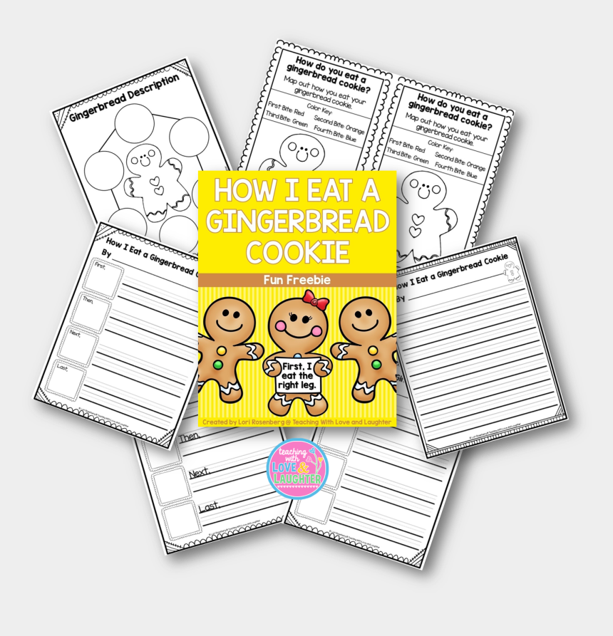 gingerbread man running clipart, Cartoons - How I Eat A Gingerbread Cookie Freebie - Illustration
