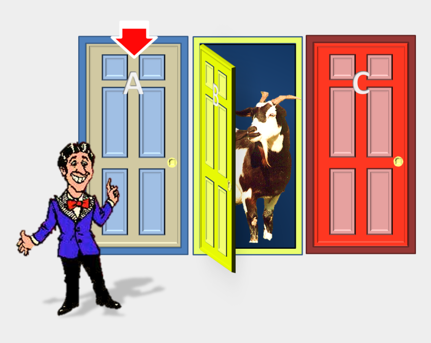 game show host clipart, Cartoons - Then Game-show Host Offers You A Second Chance - Monty Hall Problem