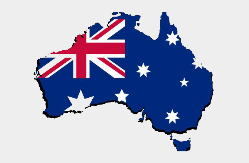 Australia Vector Map Clip Art - Black And White Australia Flag , Free  Transparent Clipart - ClipartKey