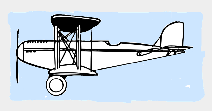 old fashioned airplane clipart, Cartoons - Airplane Clipart Cartoon - Wright Brothers Plane Outline