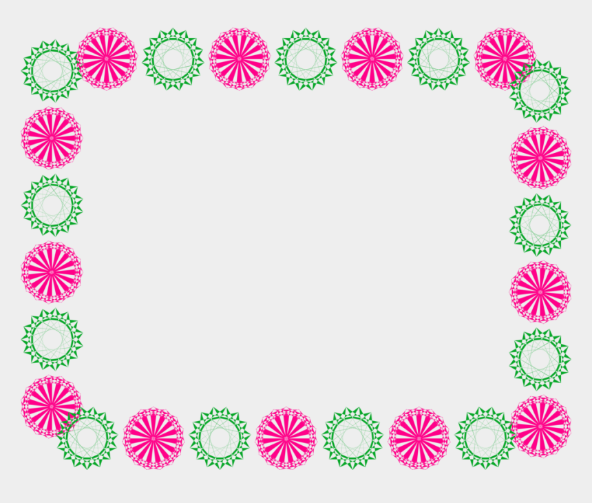 frame shape clipart, Cartoons - Flower Border Line Design Group Free Stock Ⓒ - Border Line Design Flower