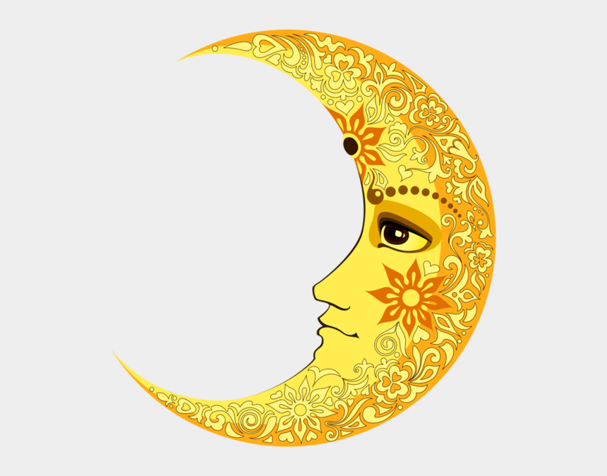 moon face clipart, Cartoons - Lunes,tubes Zentangle, Yellow Moon, Soly Luna, Cresent - Crescent Moon Face Png