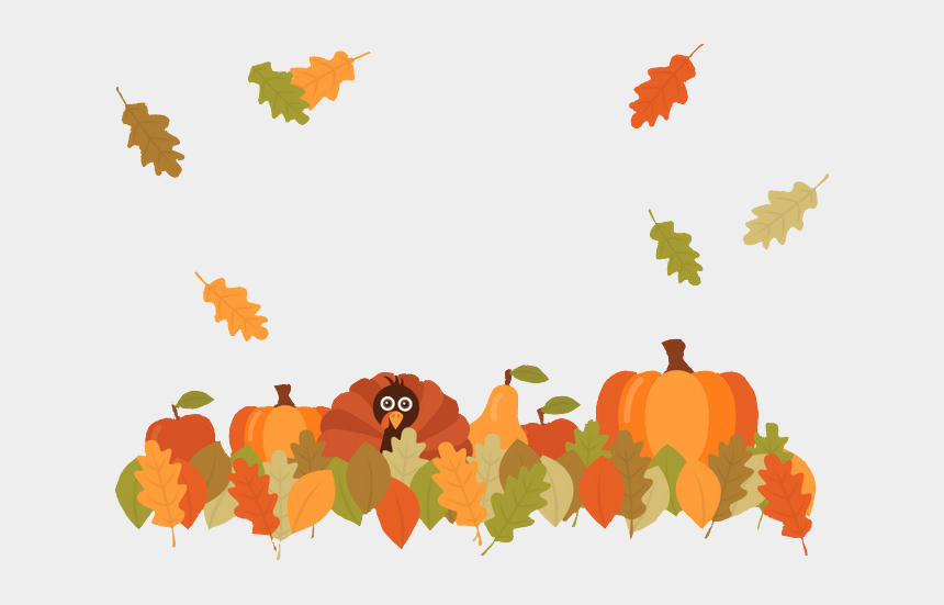 autumn frame clipart, Cartoons - #thanksgivingdecor #thanksgiving #turkeys #autumn #frame - Fall Pumpkin Leaves Png