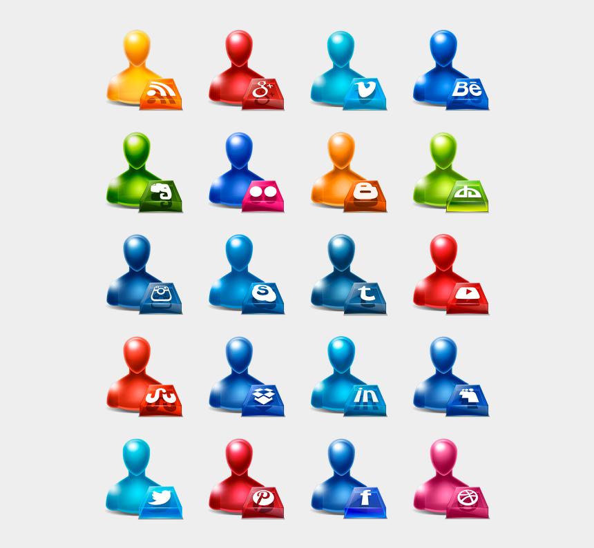 clipart social media, Cartoons - Social Media Icons Clipart Icon Pack