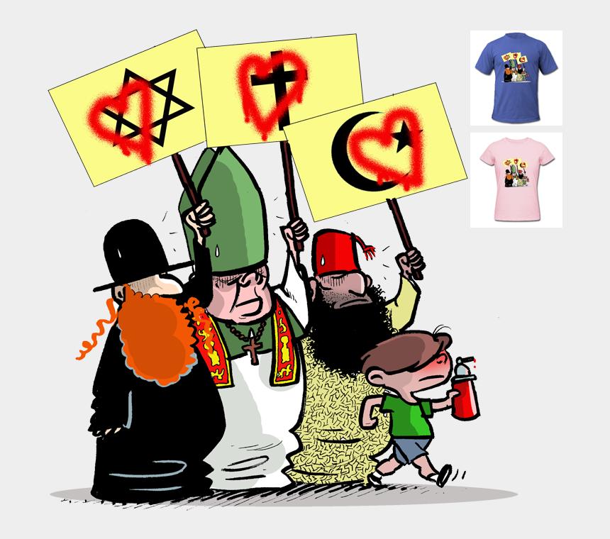 clipart religion, Cartoons - Religion Cartoon Png Clipart , Png Download - Cartoon Amendment 1 Freedom Of Religion
