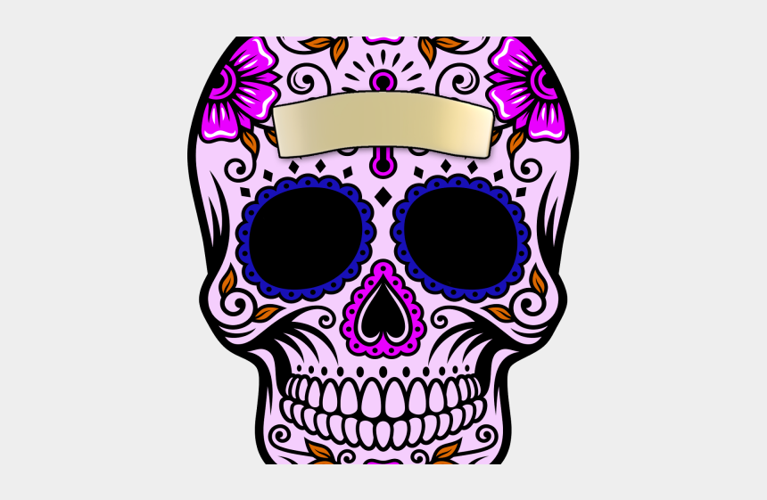 mexican skull clipart, Cartoons - Sugar Skull Clipart Transparent Background - Calavera Mexicana Tattoo Design