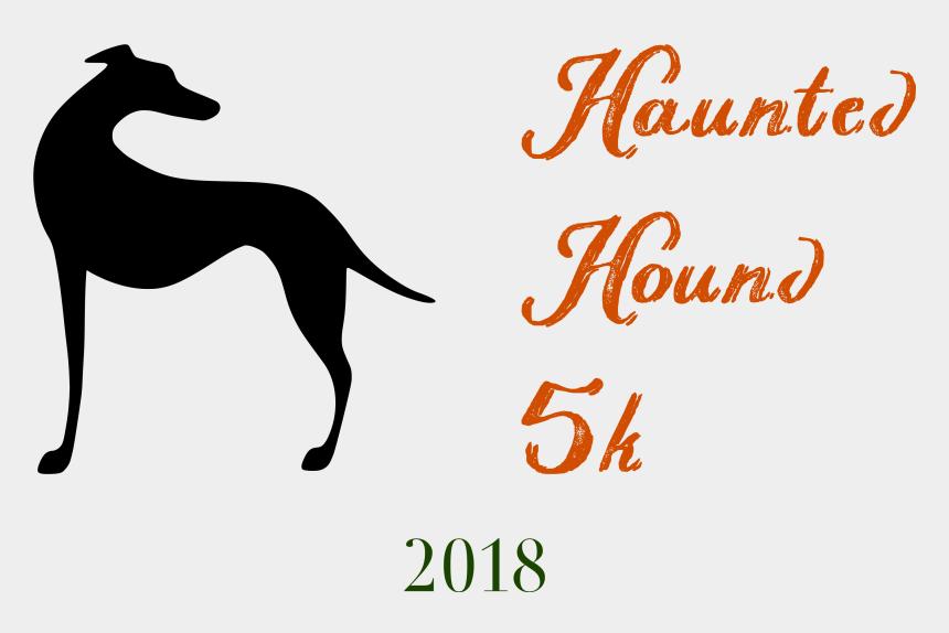 greyhound running clipart, Cartoons - Haunted Hound 5k Run & Walk - Dog