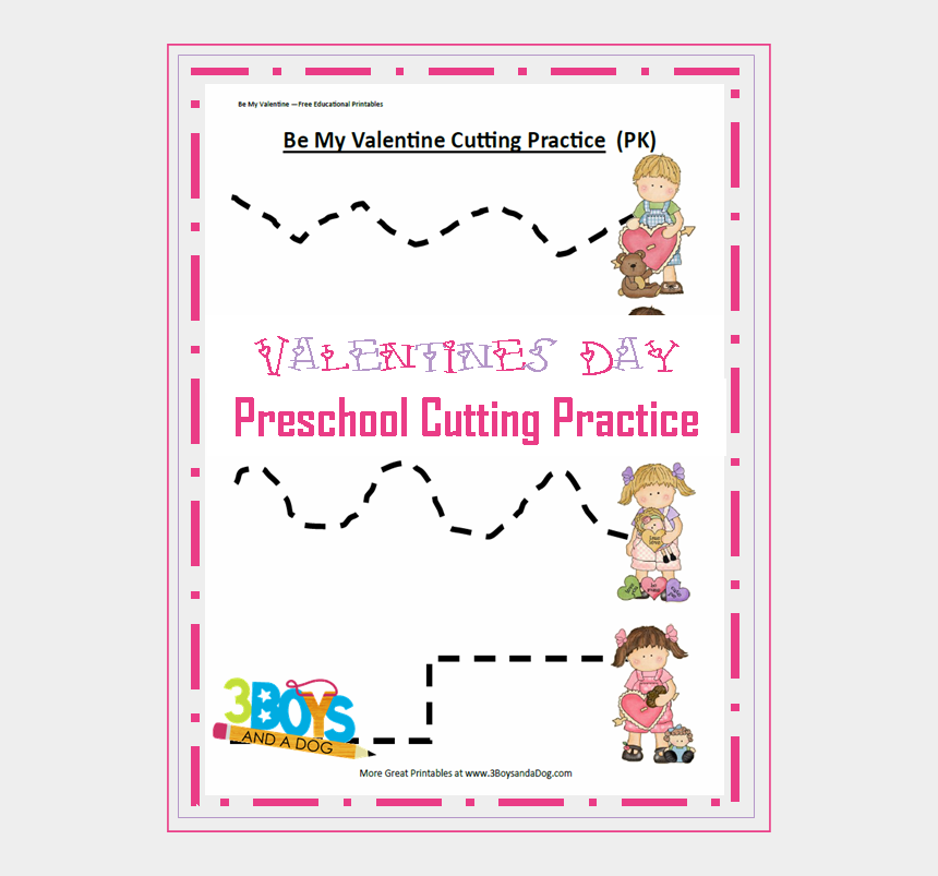 clipart scissors cutting dotted line, Cartoons - Valentines Day Preschool Cutting Practice Valentine - Cutting Practice Preschool Valentines Day