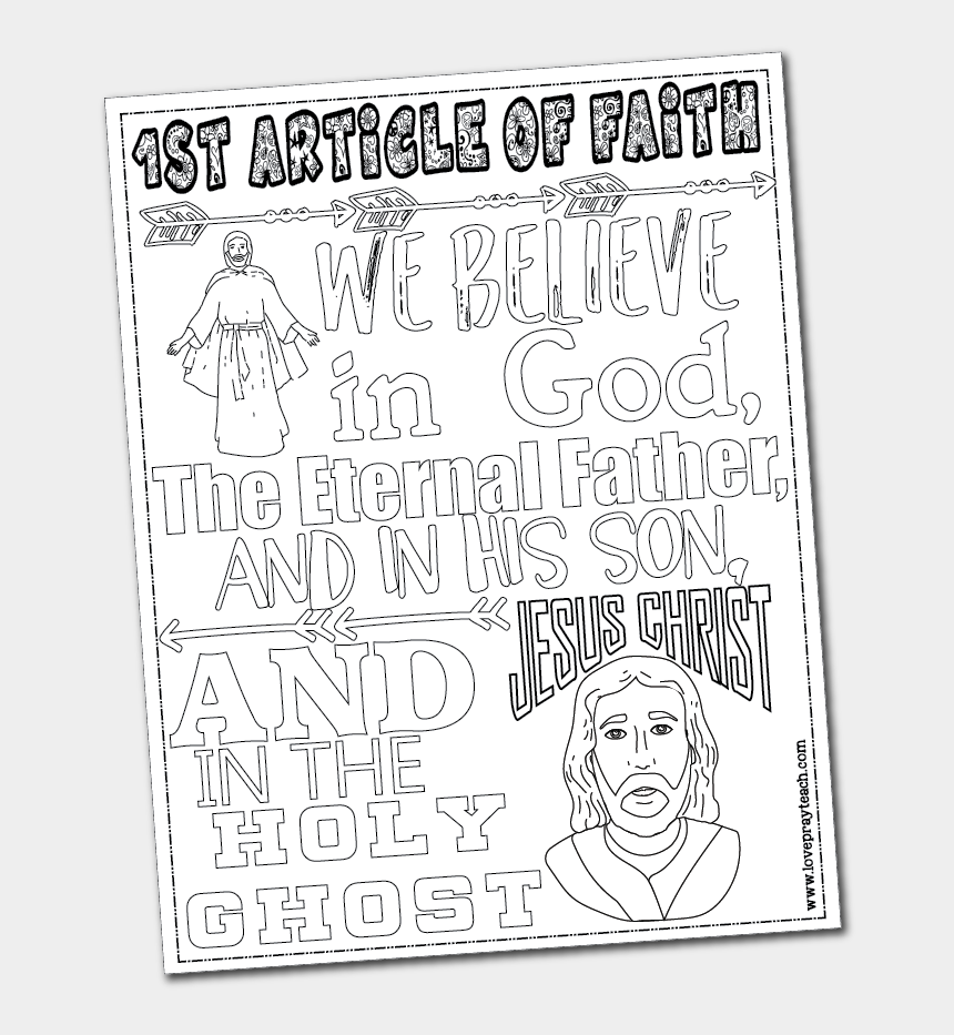 tithing lds clipart, Cartoons - 1st Article Of Faith Coloring Page - Article Of Faith 1 Lds Coloring Page