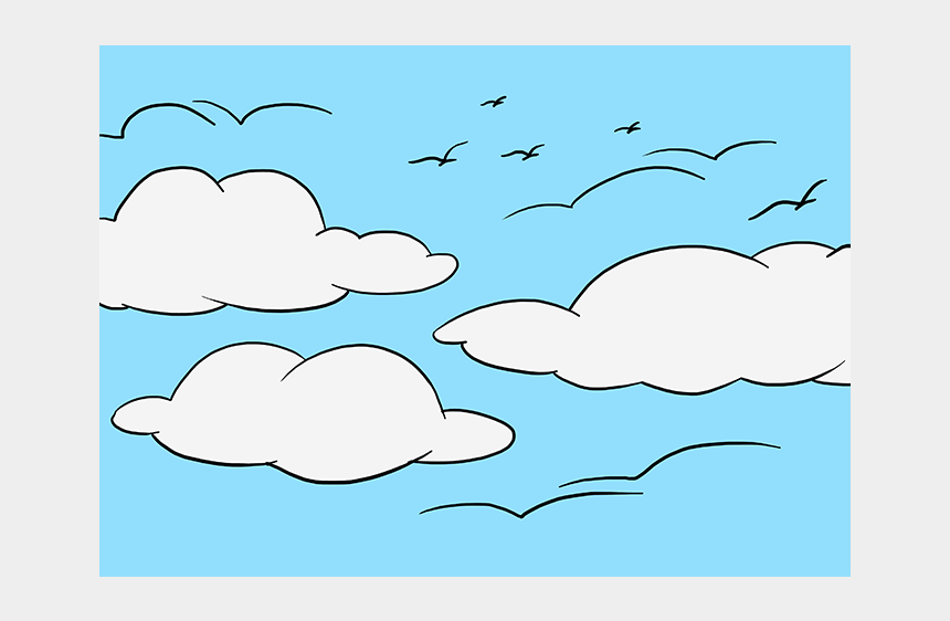 sky with clouds clipart, Cartoons - How To Draw The Sky - Draw A Picture Of Sky