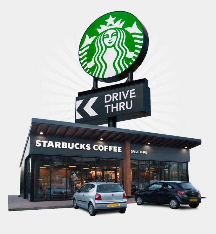 drive thru clipart, Cartoons - Starbucks Drive Thru Now Open At Beaconsfield - Starbucks New Logo 2011