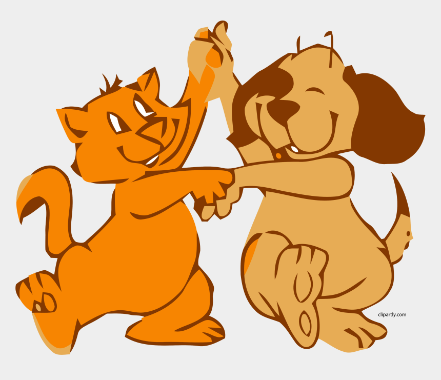 clipart of dogs and cats, Cartoons - Dog Cat Dance Clipart Png - Animated Gif Dancing Animals