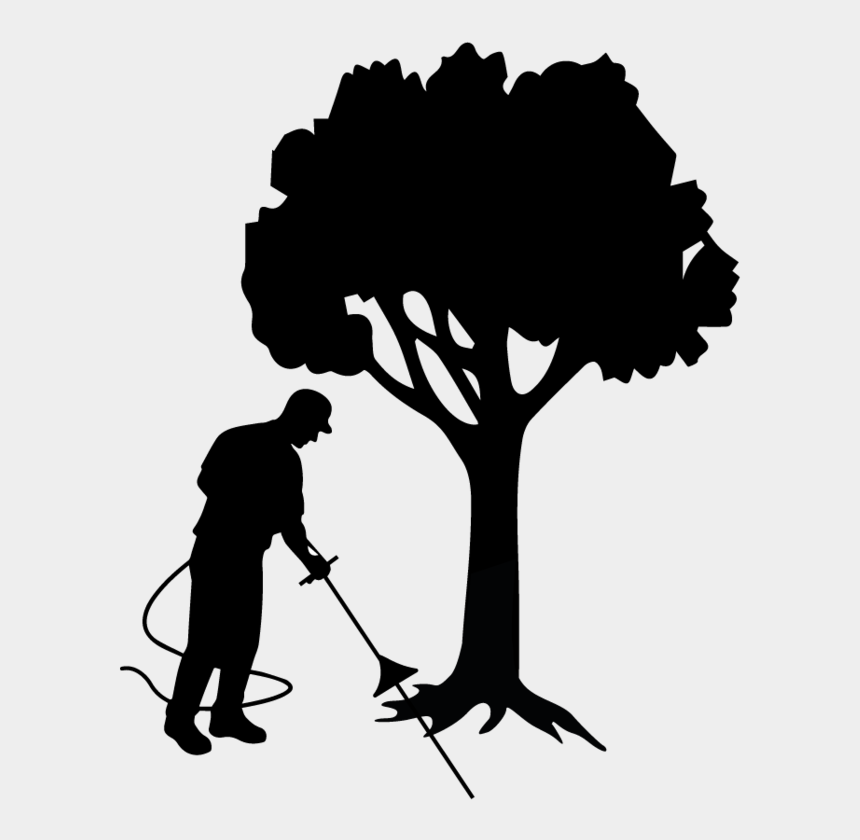 tree of life with roots clipart, Cartoons - Root Aeriation, Decompaction &amp - Silhouette