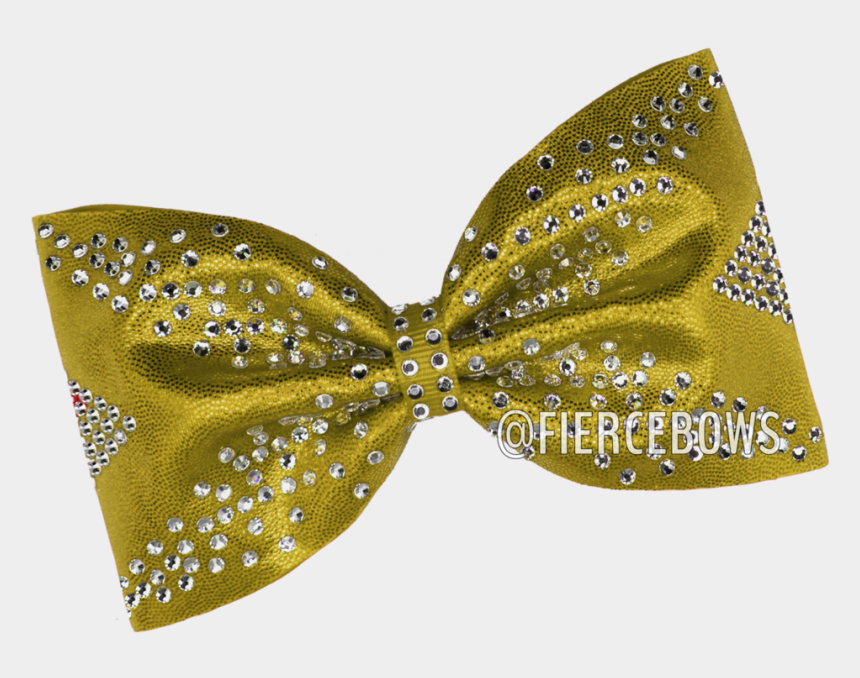 yellow bow clipart, Cartoons - Fingers Crossed Rhinestone Tailless Bow - Polka Dot
