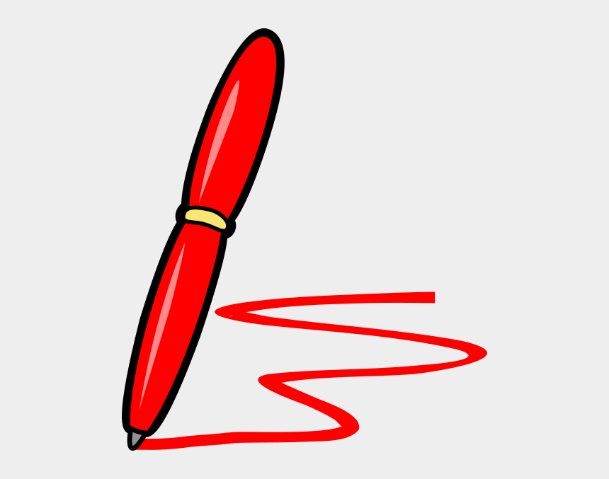 pen and ink clipart, Cartoons - Clip Art Red Pen