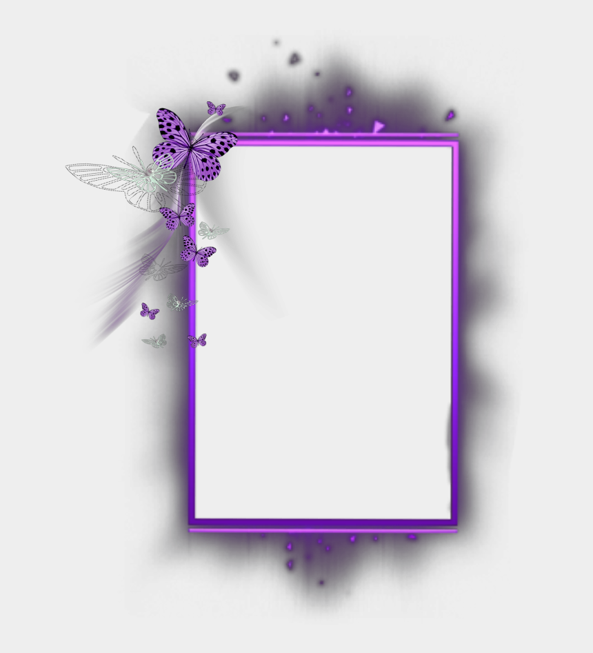 purple butterfly border clipart, Cartoons - #mq #purple #butterfly #frame #frames #border #borders - Butterfly Border Line Design Violet