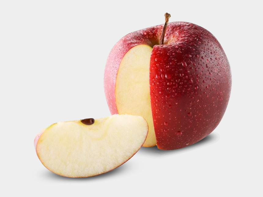 apple slices clipart, Cartoons - Red Apple Slices Png - Apple Sliced Open