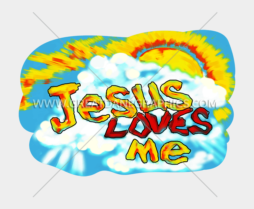 jesus loves me clipart, Cartoons - Jesus Loves Me Production Ready Artwork For T Shirt - Decal