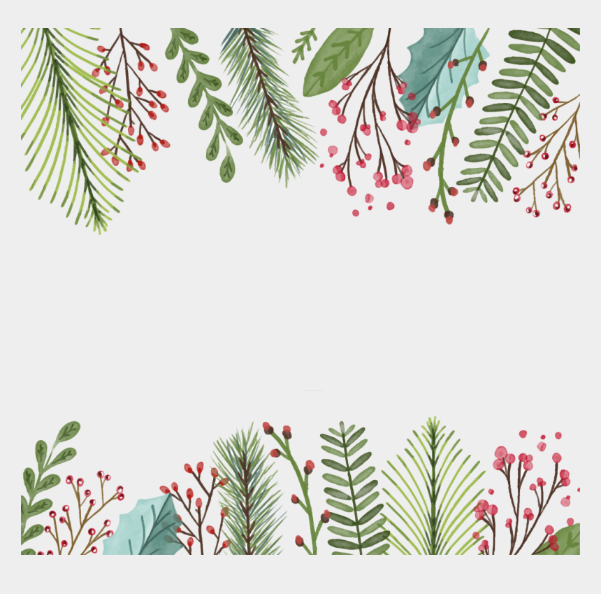 christmas tree border clipart, Cartoons - Tree Border Png - High Resolution Watercolor Christmas Background