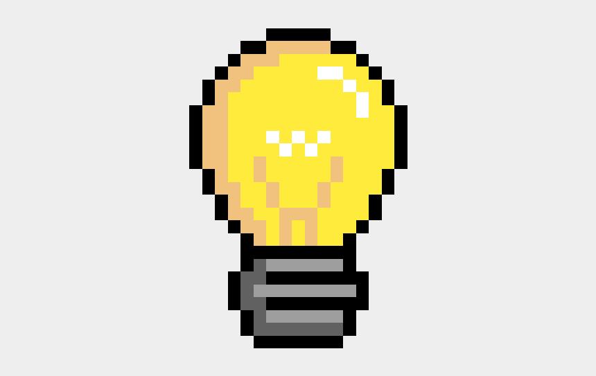 potato pancake clipart, Cartoons - Light Bulb - Pixel Light Bulb