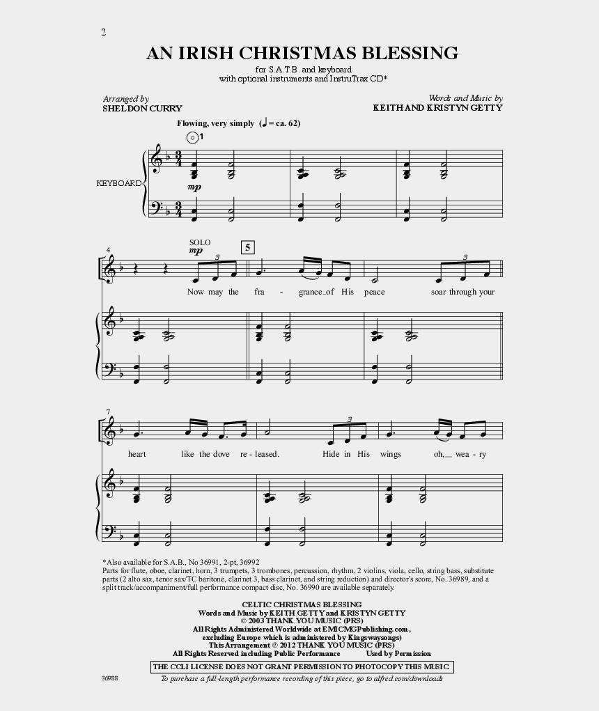 Irish Christmas Blessing.An Irish Christmas Blessing Thumbnail Sheet Music